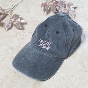 #GRL PWR Distressed Grey Hat/ 3 for $25